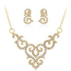 Infinity Heart Rhinestoned Jewelry Set