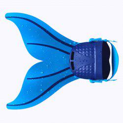 Adult Adjustable Mermaid Tail Swim Fins - BLUE