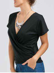 Convertible Plunging Neckine Surplice Tee
