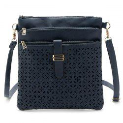 Hollow Out PU Leather Crosbody Bag -