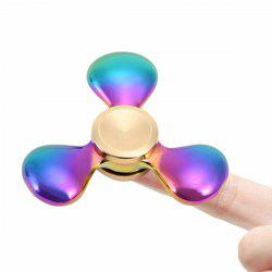 Stress Relief Toy Rainbow Triangle Fidget Spinner - Coloré