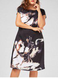 Printed Plus Size A Line Midi Dress