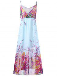 Plus Size Tiny Floral Flowy Slip Dress