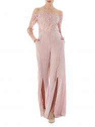 High Waist Formal Wide Leg Jumpsuit