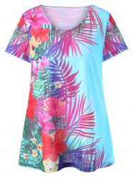Plus Size Floral Hawaiian Top