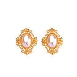 Artificial Pearl Oval Earrings