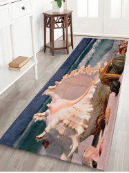 Soft Coral Fleece Beach Shell Bath Area Rug
