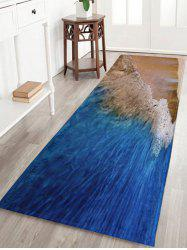 Beach Style Water Absorbent Coral Fleece Rug