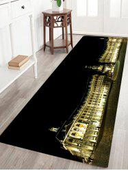 Palace Building Pattern Water Absorption Area Rug -