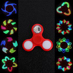 EDC Stress Reliever Fidget Spinner avec 16 Pattern LED Light - Rouge
