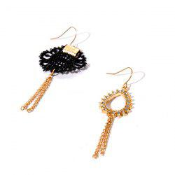 Rhinestone Teardrop Crochet Hook Earrings