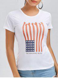 American Flag Patriotic Short Sleeve Tee