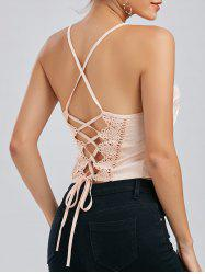 Criss Cross Lace Up Cami Top