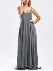 Pockets Maxi Slip Dress