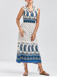 Bohemian Tribal Paisley Sleeveless Dress -