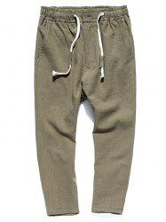Straight Leg Muti-pocket Casual Pants - ARMY GREEN