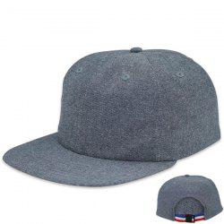 Flat Brim Adjustable Striped Tail Baseball Cap