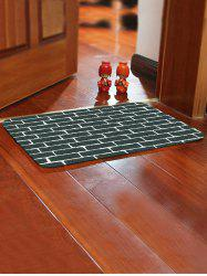 Brick Wall Pattern Water Absorbing Bathroom Floor Mat