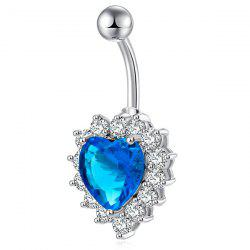 Faux Gemstone Heart Design Belly Button Jewelry - OASIS