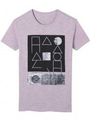 Short Sleeve Geometric Print Graphic T-shirt