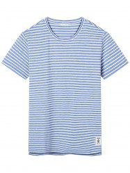 Short Sleeve Anchor Applique Stripe T-shirt