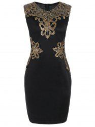 Lace Applique Pencil Dress