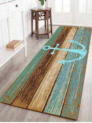 Deck Anchor Pattern Water Absorption Indoor Outdoor Area Rug - CYAN