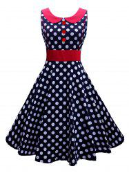 Button Polka Dot Vintage Corset Dress