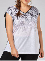 Plus Size Bamboo Tie Shoulder Sleeveless T-shirt