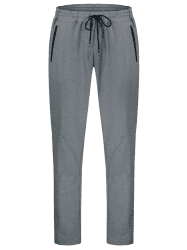 Drawstring Sweatpants with Zipper Pocket