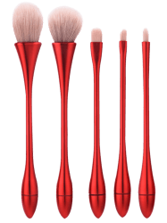 5Pcs Waterdrop Waisted Makeup Brushes Set