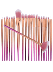 Diamond Shaped Ombre Fan Eye Makeup Brushes Set - PINK