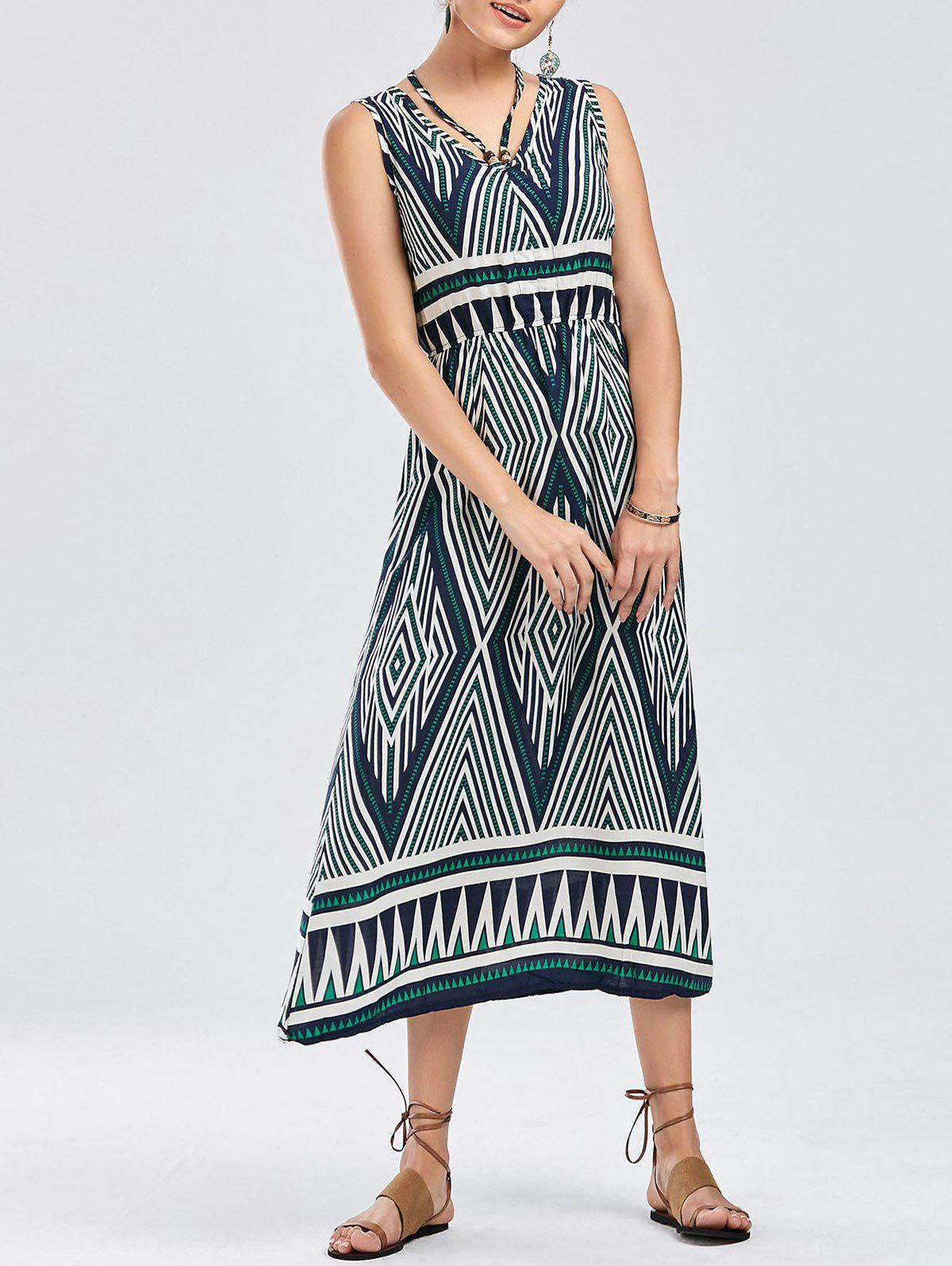 Buy Bohemian Geometric Print Dress