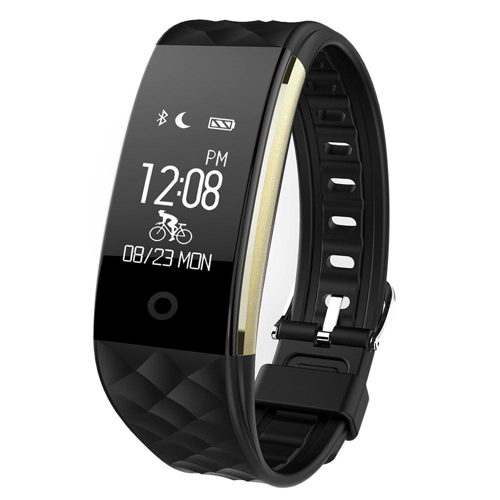 S2 Bluetooth Smart Bracelet with Heart Rate Monitor Notification GPS Sport Tracker WatchJEWELRY<br><br>Color: BLACK; CPU: BT V4.0 BLE; Bluetooth Version: Bluetooth 4.0; Heart Rate: Dynamic heart rate detection; Waterproof Rating: IP67; Screen Size: 0.96 inch; Screen Resolution: 64*128 pixels; Compatability: Android 4.3 / iOS 7.0 and above system; Data storage: Storage 7 days sports data; APP compatible language: Simplified Chinese, traditional Chinese, English...; Battery Type: Lithium Polymer Battery; Battery Capacity: 90mAh; Power: Built-in Battery; Standby time: 5 - 10 Days; Functions: Camera remote control, Distance recording, Find your phone, Remote music, Sedentary reminder, Sleep management; Bicycle-riding Mode: Riding time; Multiple Movement Mode: Rope skipping, Jumping jacks, Sit-ups, Running mode; APP GPS Movement: Trajectory, Historical records, track sharing, Calorie, Time, Distance, Pace;