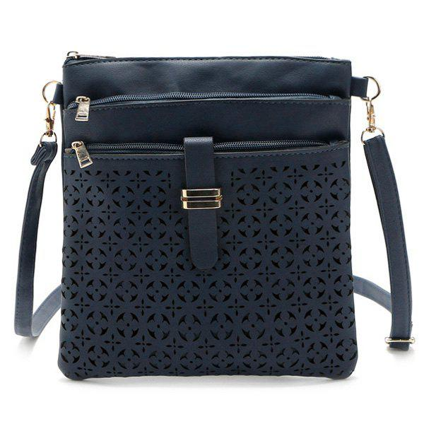 Buy Hollow Out PU Leather Crosbody Bag
