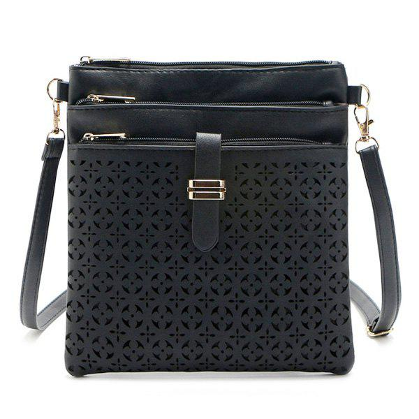 Store Hollow Out PU Leather Crossbody Bag