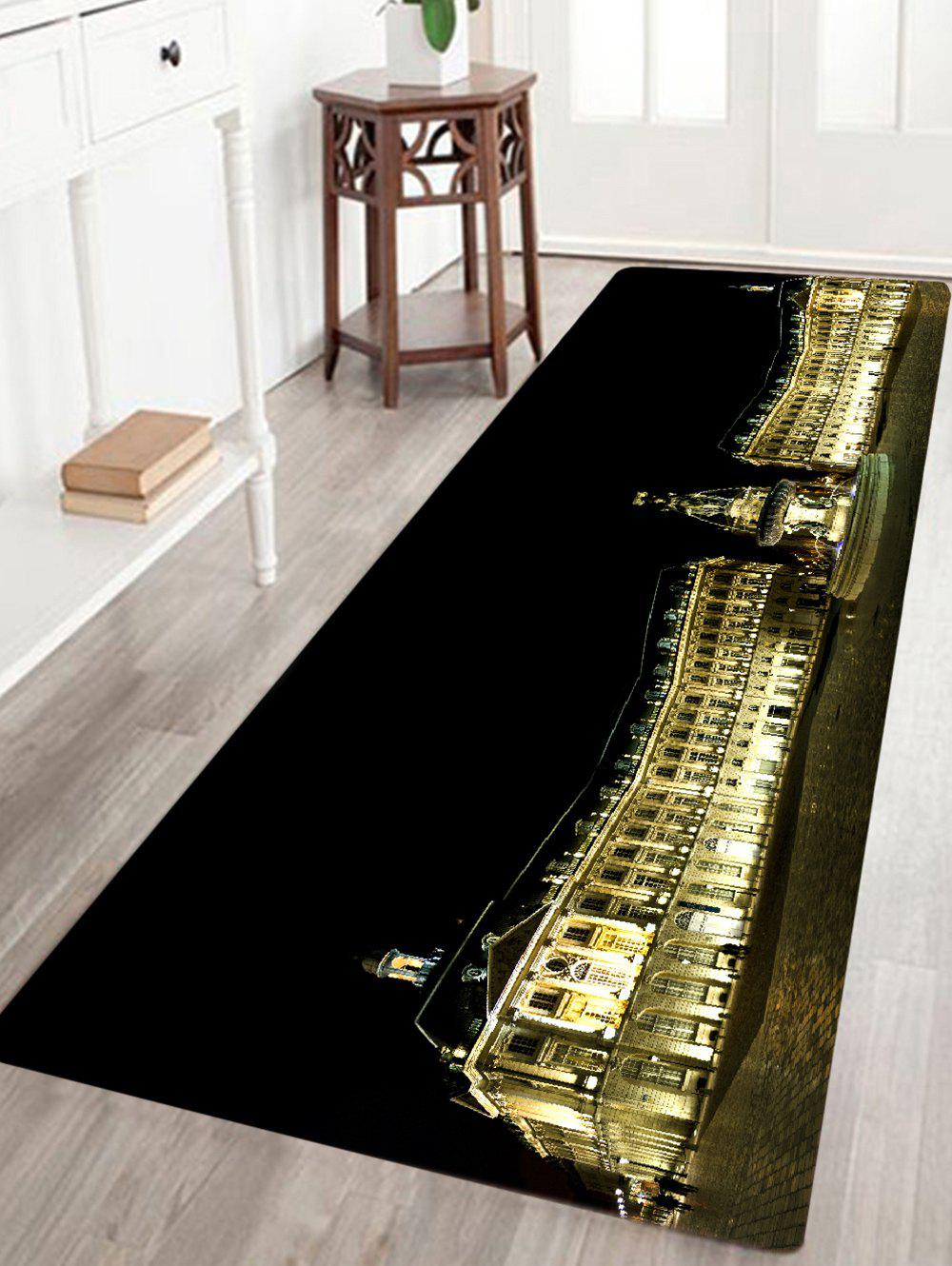 Chic Palace Building Pattern Water Absorption Area Rug