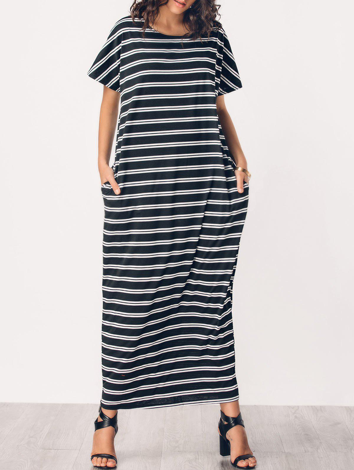 Fancy Striped Casual Middle Eest Maxi Dress