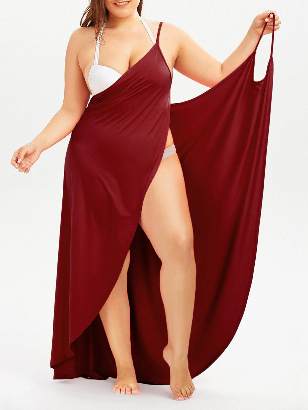New Plus Size Cover Up Beach Wrap Dress