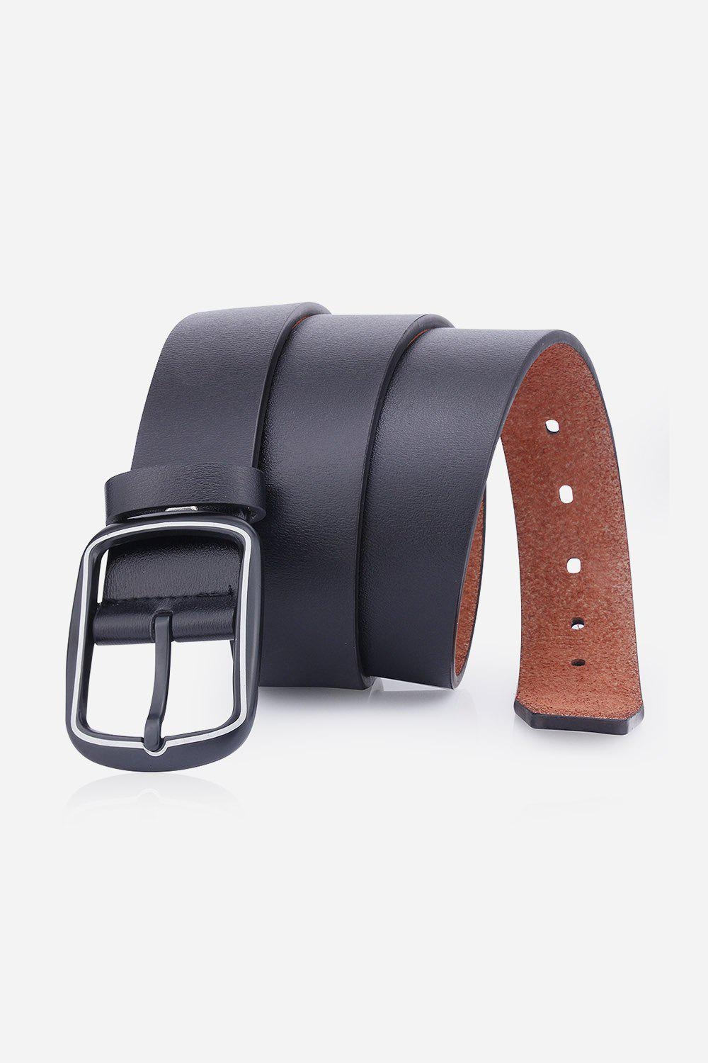 New Faux Leather Rectangular Pin Buckle Belt