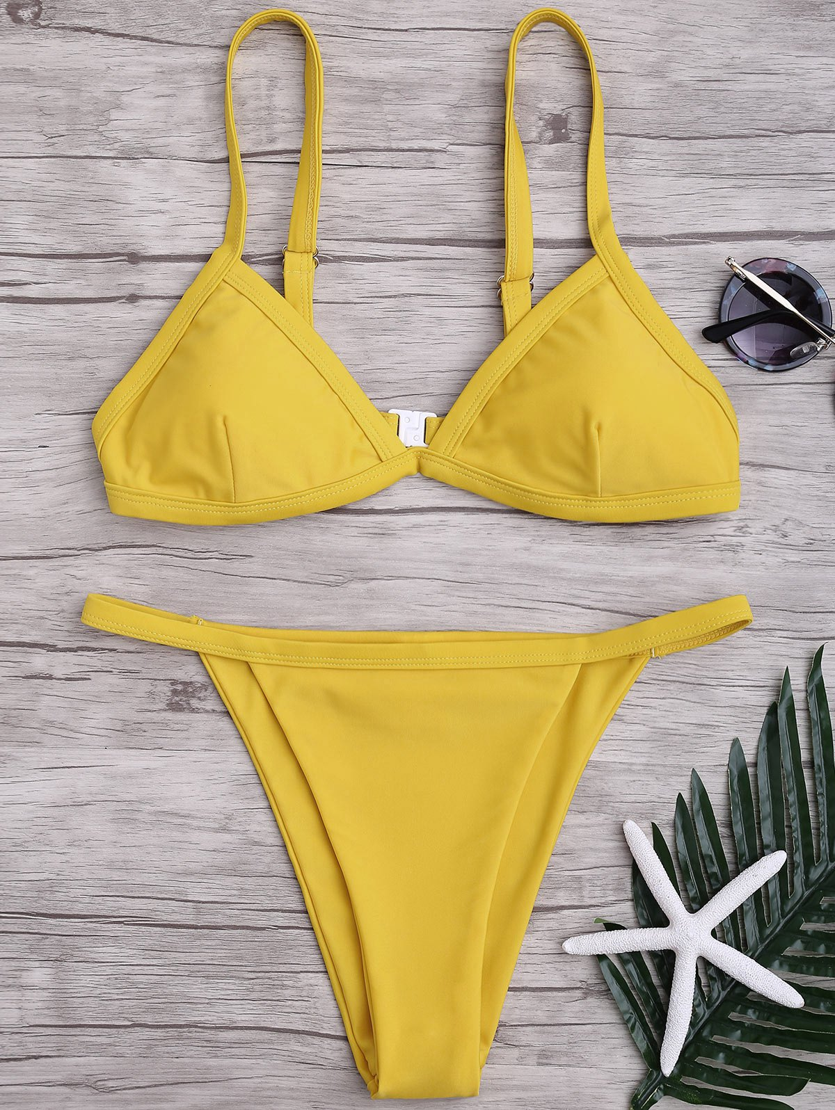 Discount Spaghetti Straps String High Cut Two Piece Swimsuit