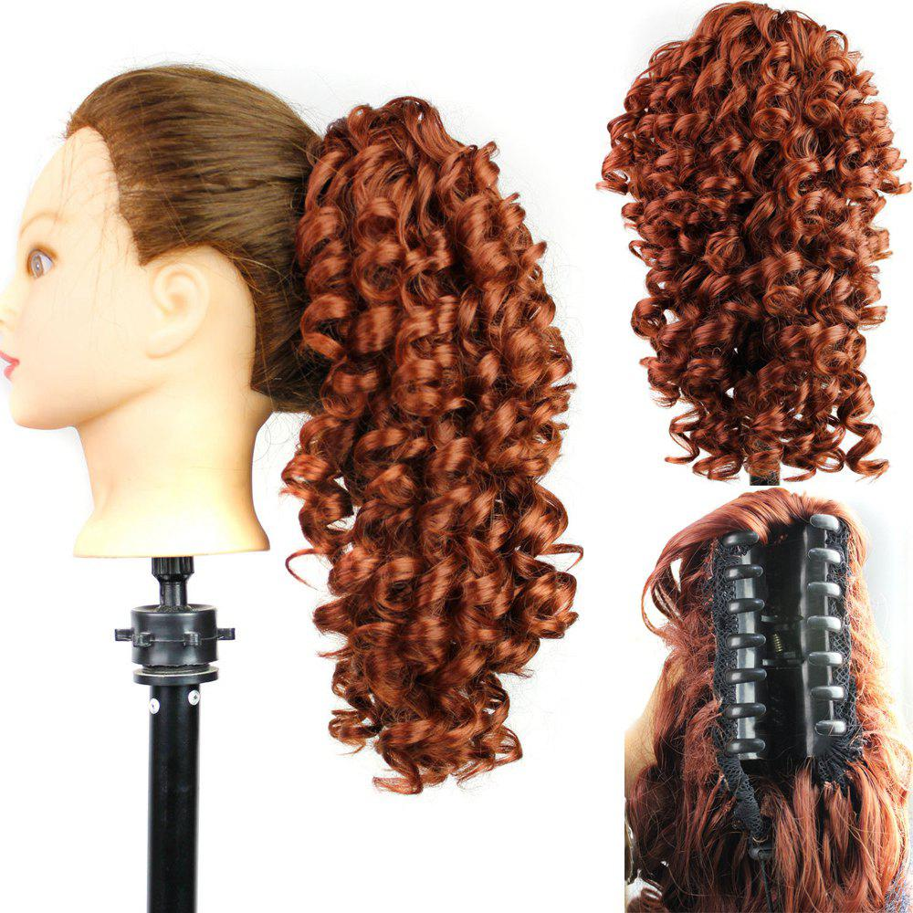 Shaggy Medium Kinky Curly Ponytail Hair PiecesHAIR<br><br>Color: 130#; Style: Ponytails; Type: Clip-In/On; Hairstyling: Curly; Fabric: Synthetic Hair; Length: Medium; Weight: 0.1700kg; Package Contents: 1 x Hair Pieces; Length Size(Inch): 12;