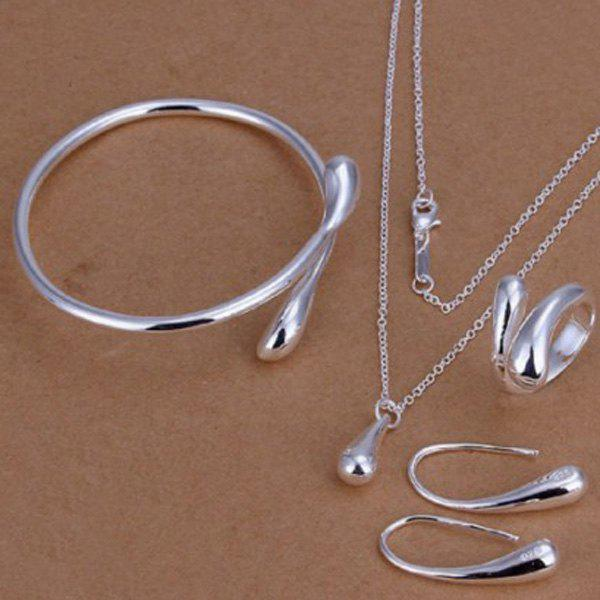 Shops Teardrop Necklace Bracelet Earrings with Ring