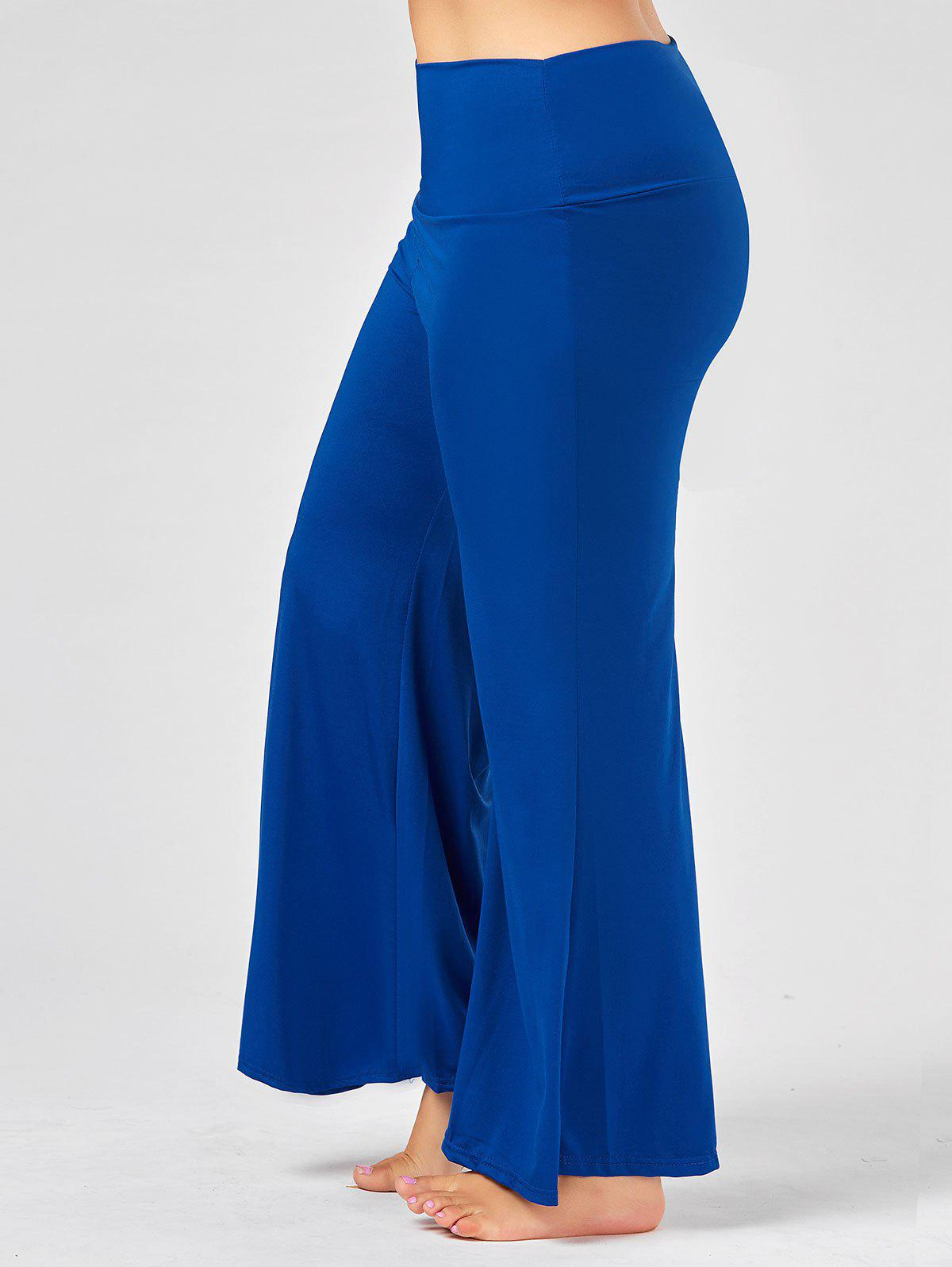 Shops Plus Size Maxi High Rise Palazzo Pants