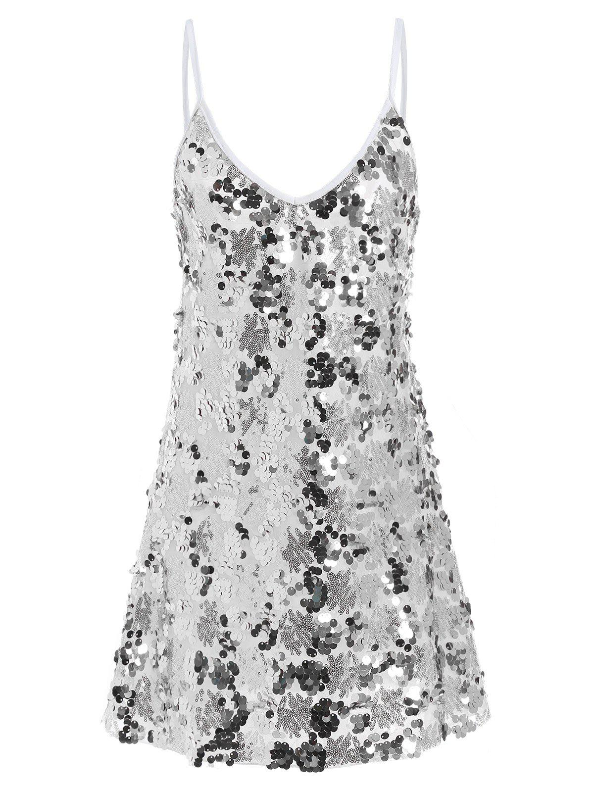 Discount Sequin Glitter Shiny Slip Club Dress