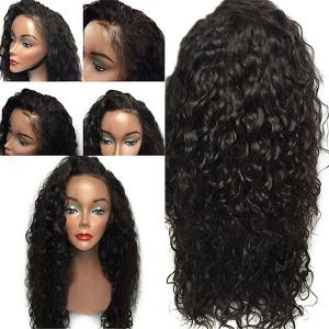 Lace Front Free Part Shaggy Layered Long Curly Synthetic Wig - Black - 16inch