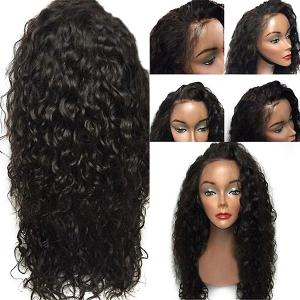 Lace Front Free Part Shaggy Layered Long Curly Synthetic Wig - BLACK