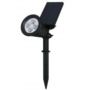 Outdoor Solar Powered Garden Lawn Decor Light - Black