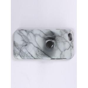 Plastique en marbre Print Finger Spinner Soft TPU Housse IPhone -