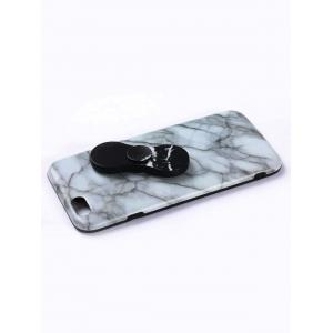 Plastic Marble Print Finger Spinner Soft TPU IPhone Cover - WHITE IPHONE 6